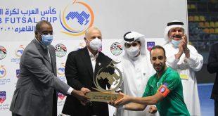 أسود الأطلس القاعة يتوجون ابطال لكأس العرب لكرة قدم داخل القاعة …